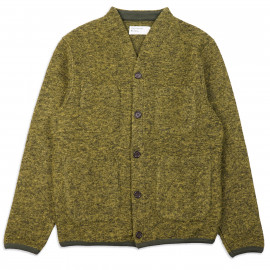 Кардиган Universal Works Cardigan Wool Fleece Green