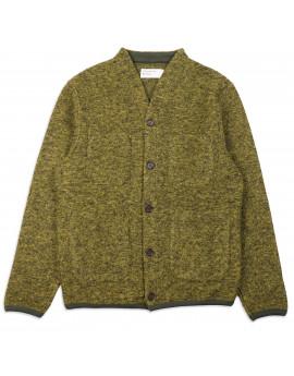 Кардиган Universal Works Cardigan Wool Fleece Green