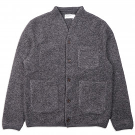 Кардиган Universal Works Cardigan Wool Fleece Carcoal