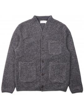 Кардиган Universal Works Cardigan Wool Fleece Carcoal