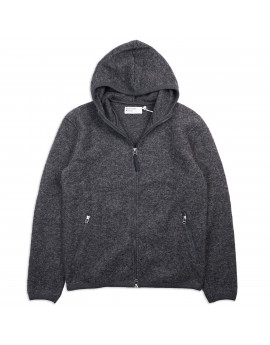 Толстовка Universal Works Surfer Hoodie Wool Fleece Charcoal