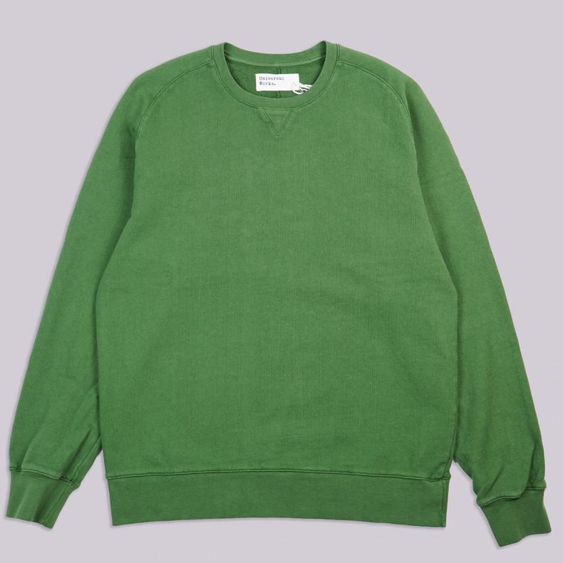 Толстовка Universal Works Classic Crew Sweatshirt Dry Handle Loopback Green