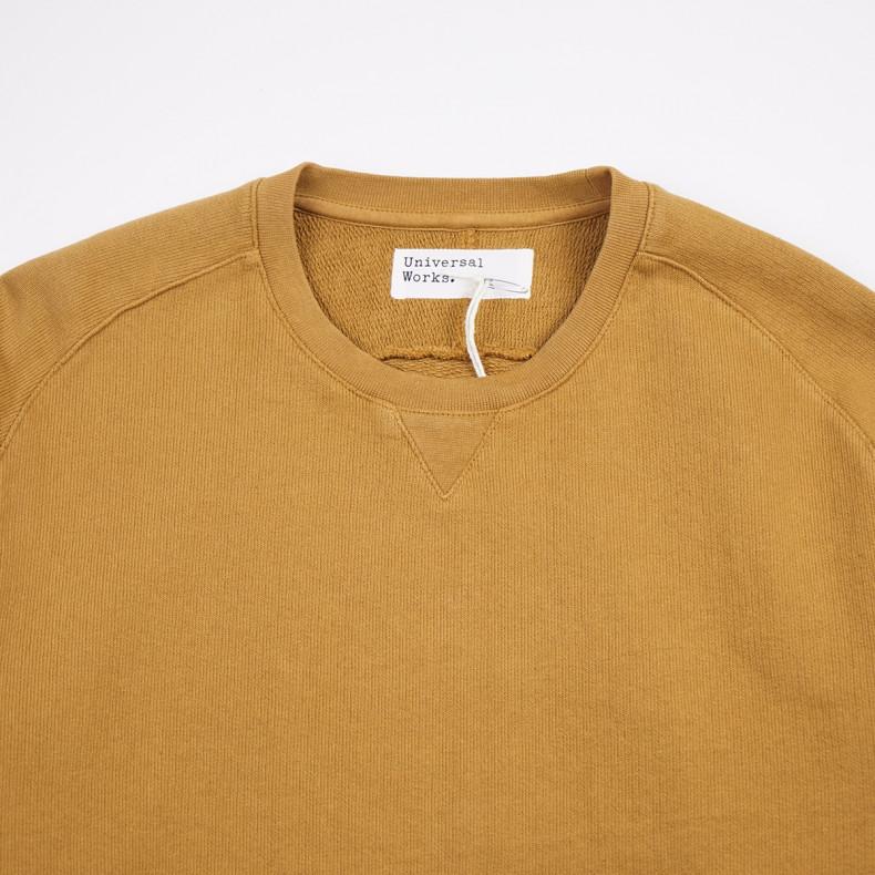Толстовка Universal Works Classic Crew Sweatshirt Dry Handle Loopback Mustard