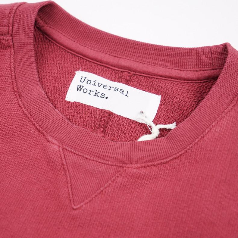 Толстовка Universal Works Classic Crew Sweatshirt Dry Handle Loopback Claret