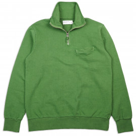 Толстовка Universal Works Half Zip Sweatshirt Dry Handle Loopback Green