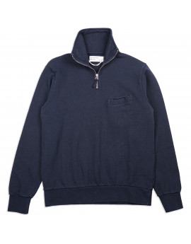 Толстовка Universal Works Half Zip Sweatshirt Dry Handle Loopback Navy
