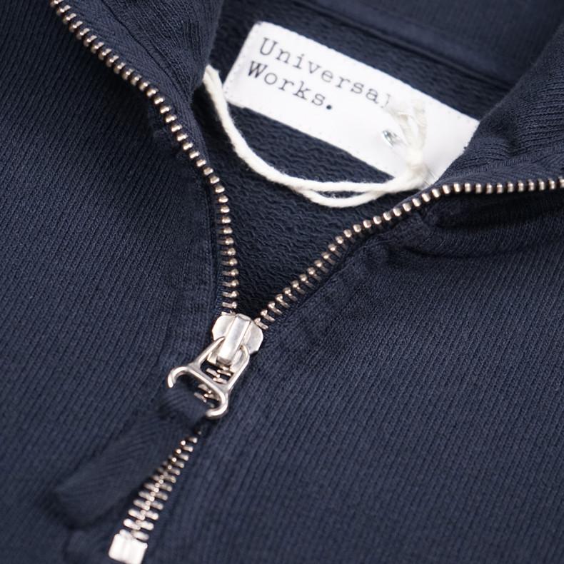 Толстовка Universal Works Half Zip Sweatshirt Dry Handle Loopback Navy