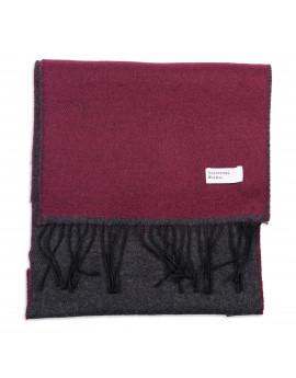 Шарф Universal Works Double Sided Scarf Claret/Charcoal
