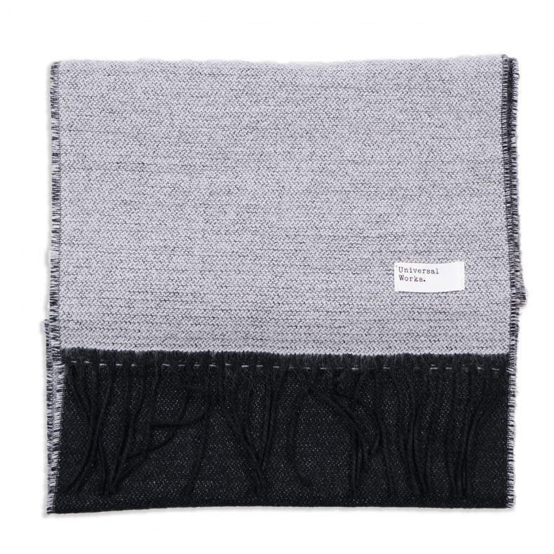 Шарф Universal Works Double Sided Scarf White/Black