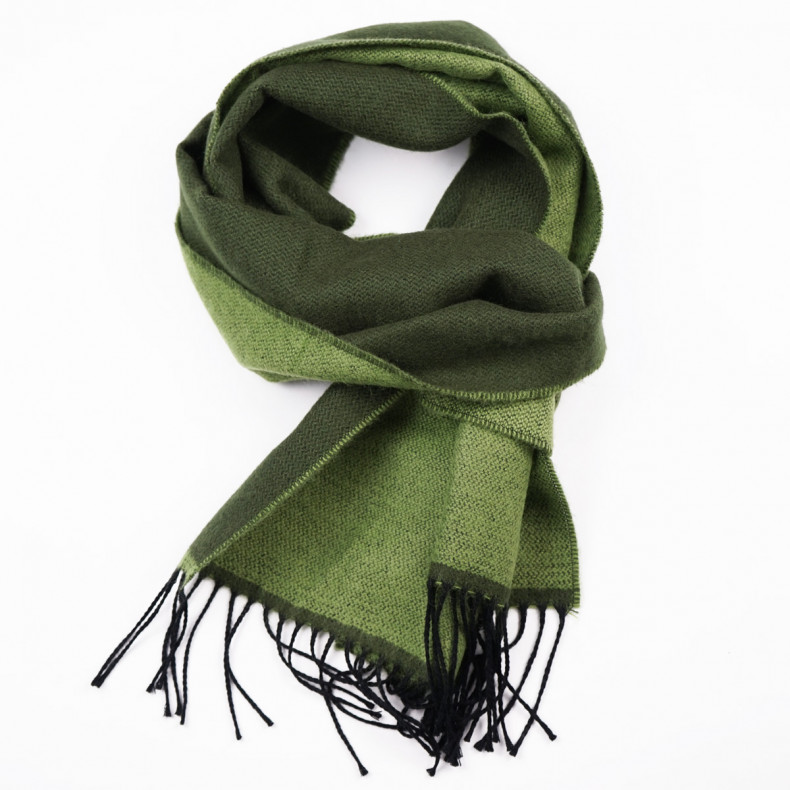 Шарф Universal Works Double Sided Scarf Green/Olive