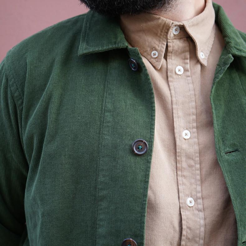 Овершот Universal Works Bakers Overshirt Fine Cord Green