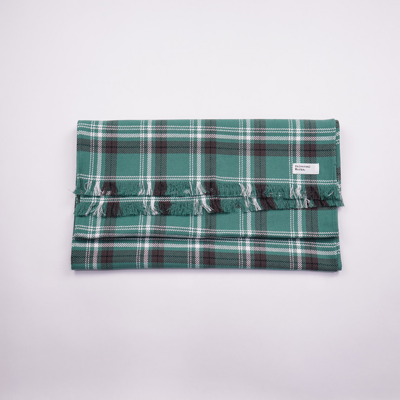 Шарф Universal Works Long scarf 23193Green/White Check