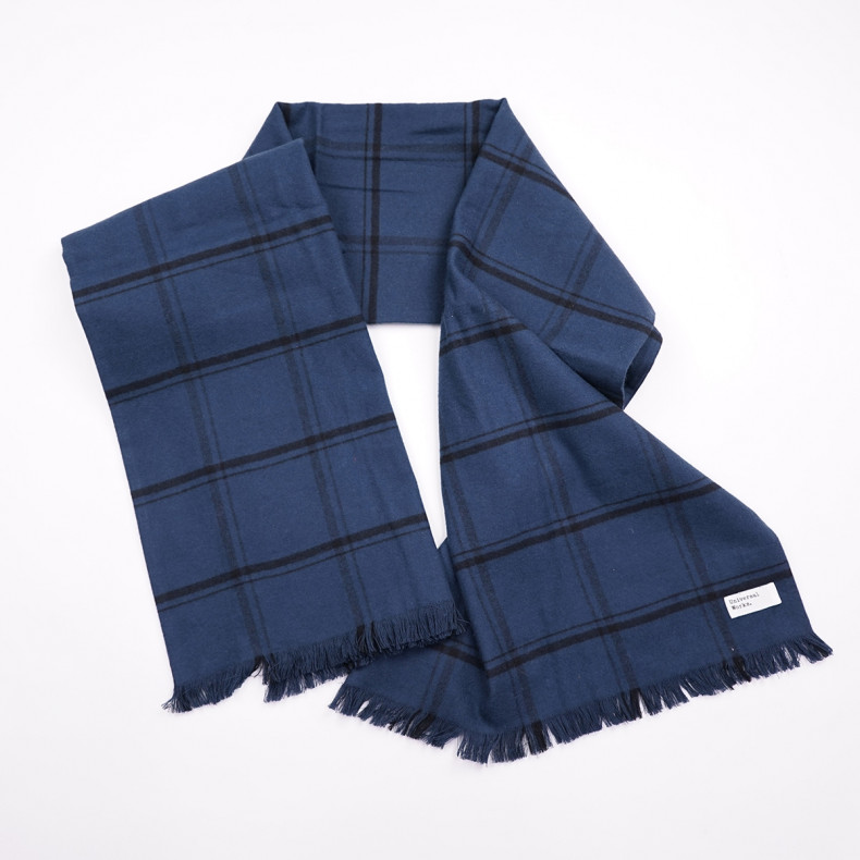 Шарф Universal Works Mid length scarf 23196Navy Check