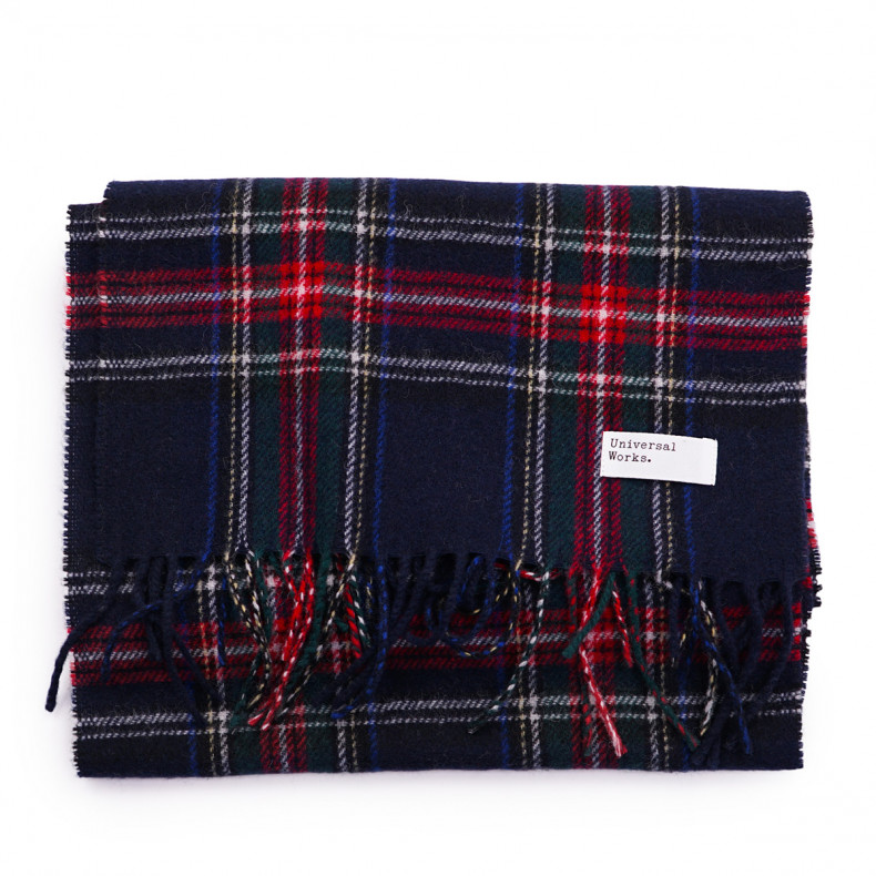 Шарф Universal Works Scarf Tartan Wool 23641Navy