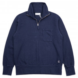 Толстовка Universal Works Half Zip 23603 Sweatshirt Dry Handle Loopback Navy New