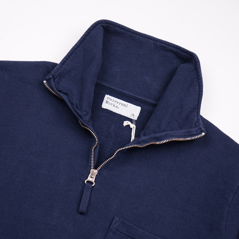 Толстовка Universal Works Half Zip 23603 Sweatshirt Dry Handle Loopback Navy New