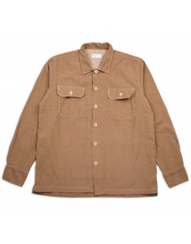 Рубашка Universal Works L/S Utility Shirt 23657 Super Fine Cord Taupe