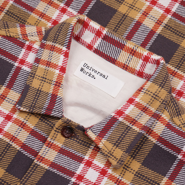 Рубашка Universal Works L/S Utility Shirt 23171 Heavy Check Sand/Red