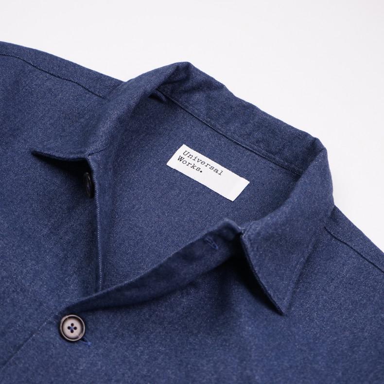 Овершот Universal Works Bakers Overshirt 23676 Brushed Cotton Blue