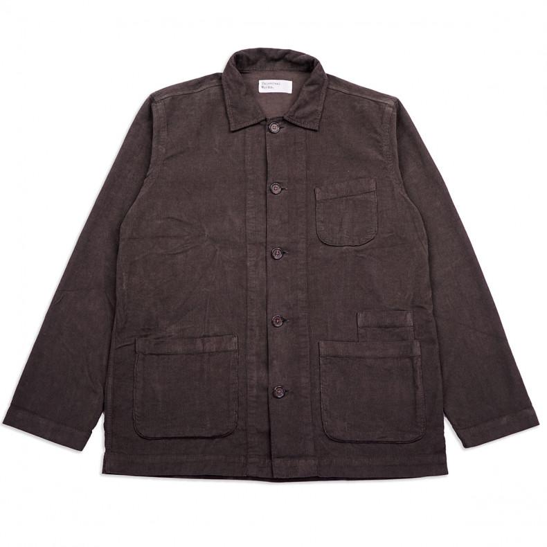 Рубашка-овершот Universal Works Bakers Overshirt 23663Fine CordChocolate