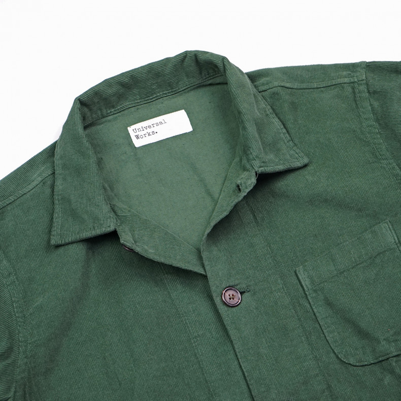 Рубашка-овершот Universal Works Bakers Overshirt 23663 Fine Cord Green