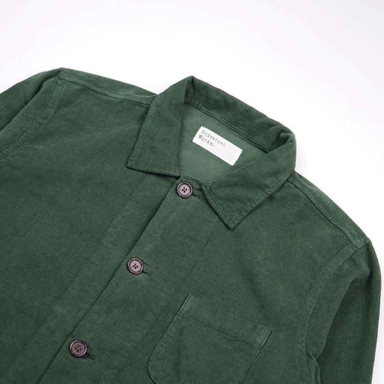 Рубашка-овершот Universal WorksBakers Overshirt 23663Fine Cord Green