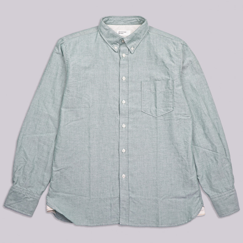 Рубашка Universal Works Everyday Shirt 23668 Oxford Shirting Green