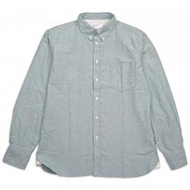 Рубашка Universal Works Everyday Shirt 23668 Oxford Shirting Green