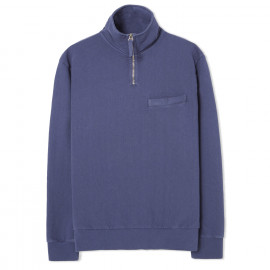 Толстовка Universal Works Half Zip Sweatshirt Dry Handle Loopback Navy Blue