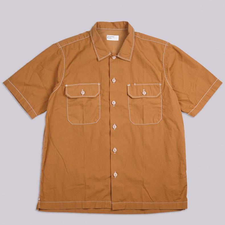 Рубашка Universal Works Poplin Utility Ss Shirt Cumin