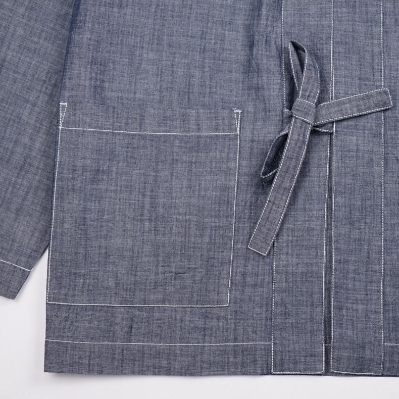 Кимоно Universal Works Chambray Tie Front Jacket Indigo