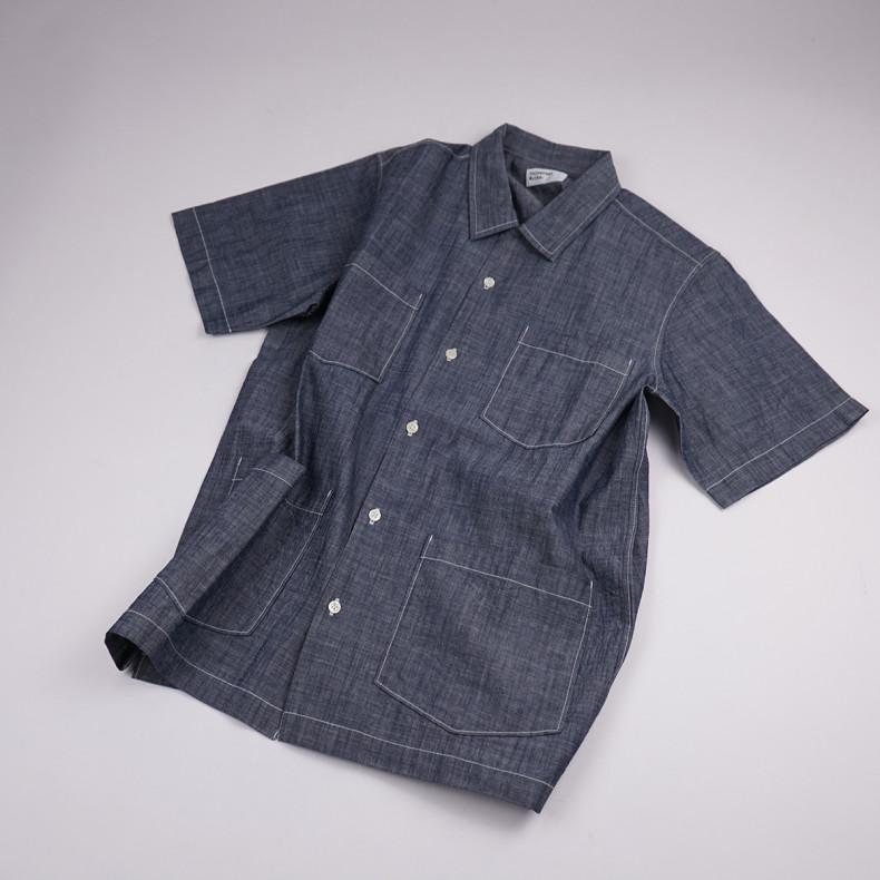 Рубашка Universal Works Chambray Summer Overshirt Indigo