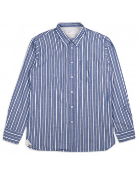 Рубашка Universal Works Chambray Stripe New Standard Shirt Indigo