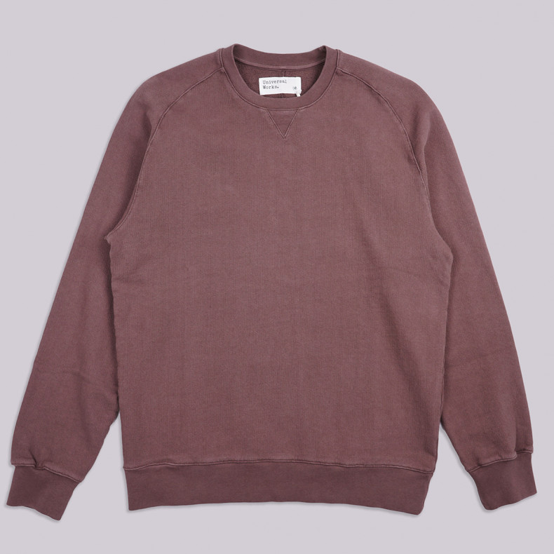 Толстовка Universal Works Dry Handle Loopback Classic Crew Sweatshirt Raisin