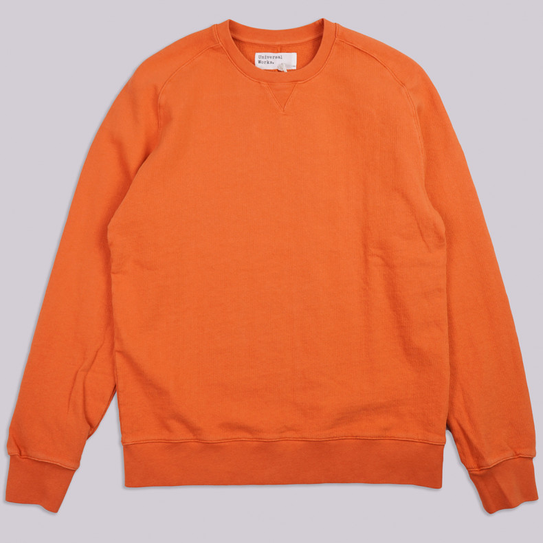 Толстовка Universal Works Dry Handle Loopback Classic Crew Sweatshirt Orange
