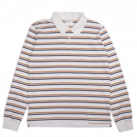 Толстовка Universal Works Narrow Stripe Heavy Rugby Shirt Ecru