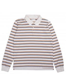 Толстовка Universal Works Narrow Stripe Heavy Rugby Shirt Ecru