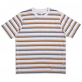 Футболка Universal Works Narrow Stripe Jersey Loose Tee Ecru