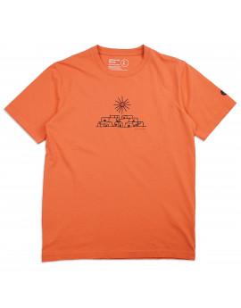 Футболка Universal Works  Adobe Print Jersey Organic Standard Tee Orange