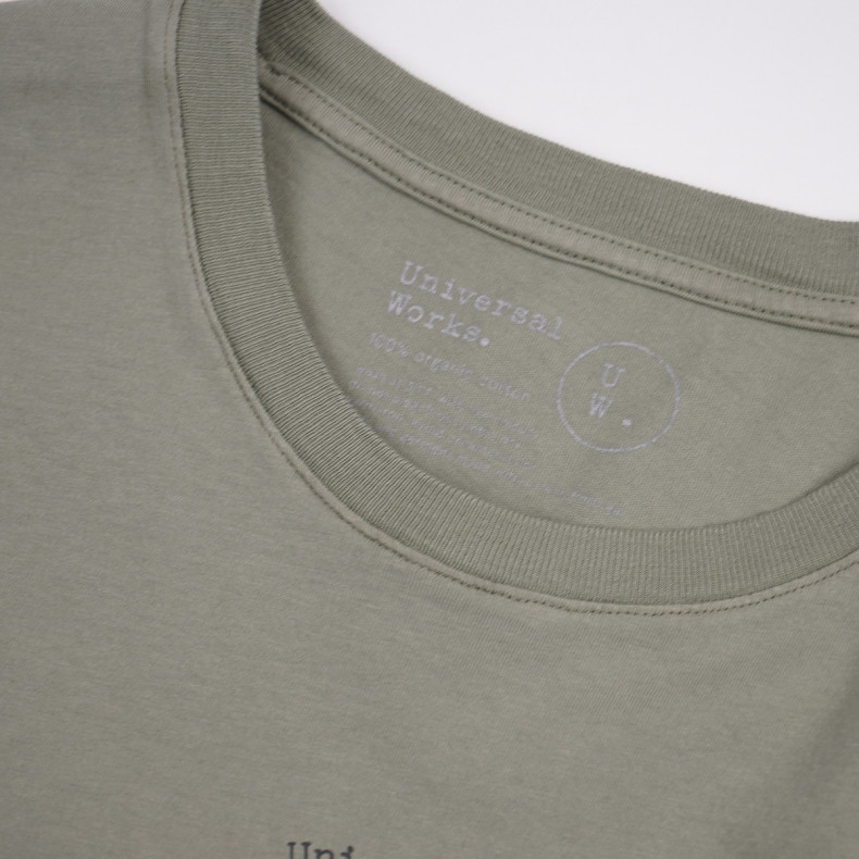 Футболка Universal Works Beisbol Print Jersey Organic Tee Laurel