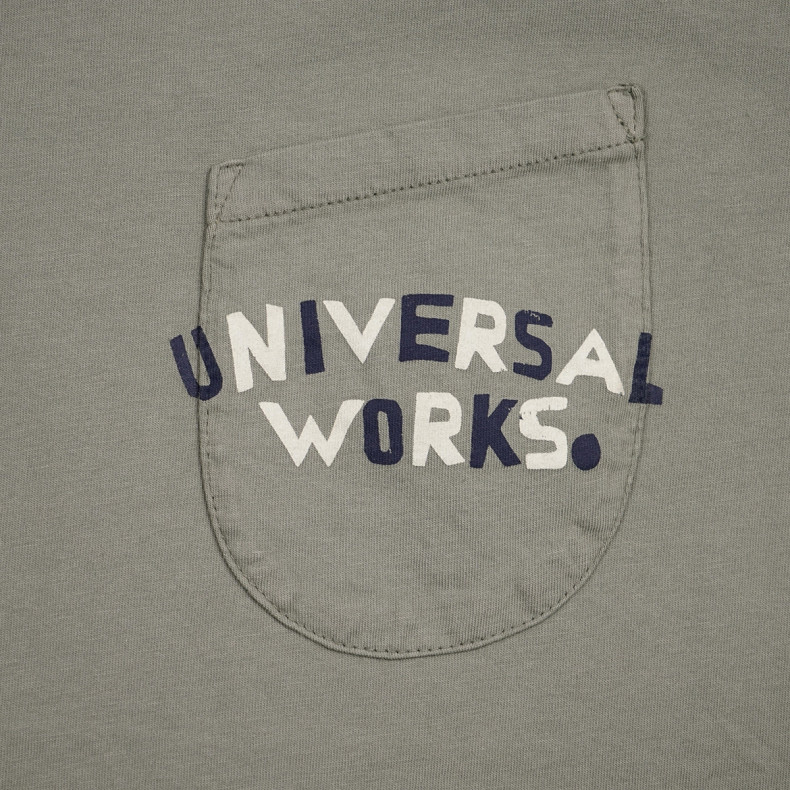 Футболка Universal Works UW Print Pocket Tee Organic Tea