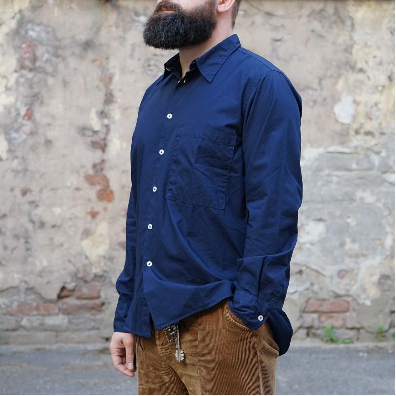 Рубашка Universal Works Big Pocket Shirt Poplin Navy