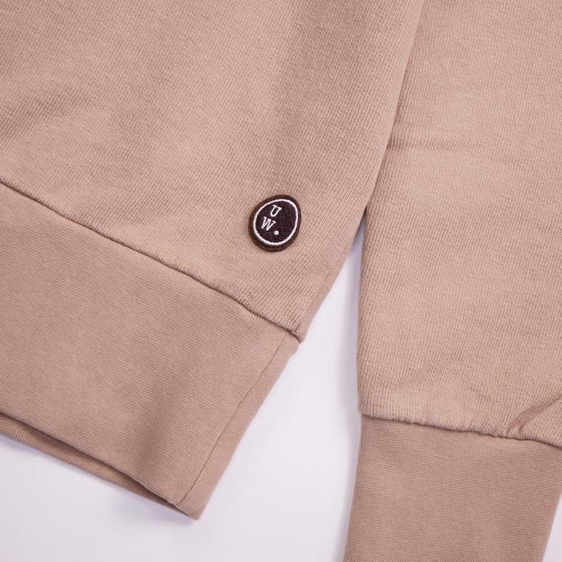 Толстовка Universal Works Half Zip Sweatshirt Dry Handle Loopback — Sand