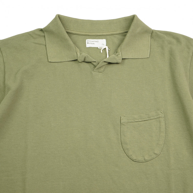 Поло Universal Works Vacation Polo Piquet Olive