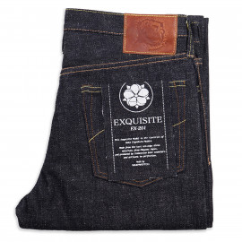 Джинсы WarpWeft Company EX-201 Slim Straight 19oz Kibata Selvedge Indigo Raw