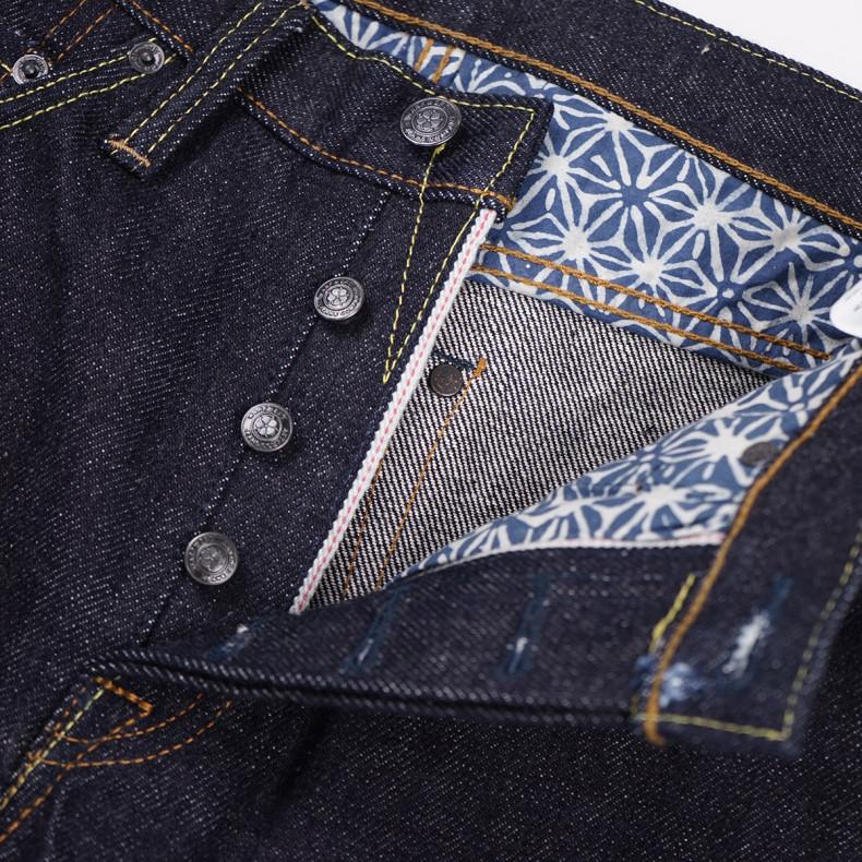 Джинсы WarpWeft Company EX-301 Slim Straight Fit 21 oz Selvedge Indigo Raw