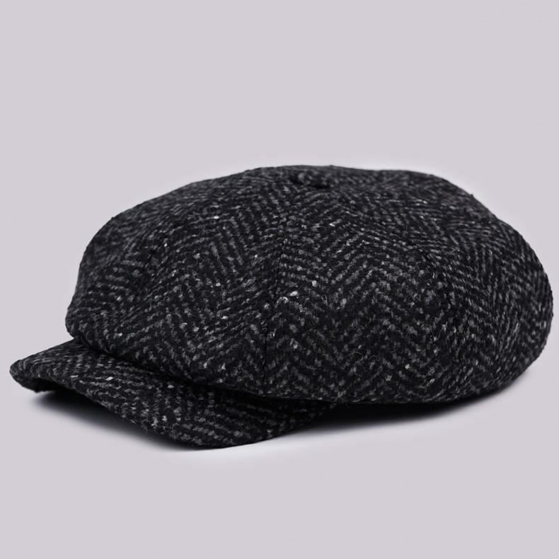 Классическая кепка Zefear Восьмиклинка ZF33809 Ferrara 2ts - Черно-серый Твид