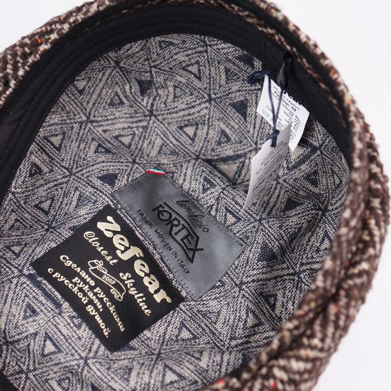 Классическая кепка Zefear Восьмиклинка ZF33802 Ferrara 2k - Коричневый Твид