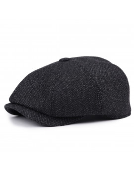Классическая кепка Zefear Восьмиклинка ZF330N8 Ovar - Черный Твид