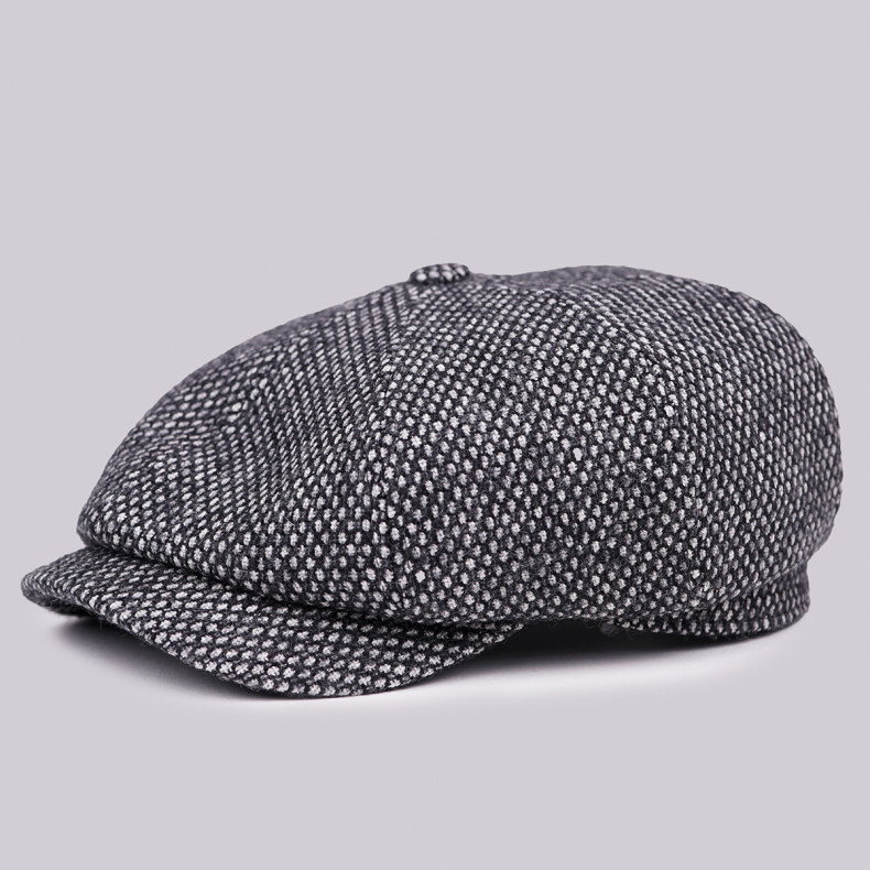 Классическая кепка Zefear Восьмиклинка ZF33804 Nattino - Серо-черный Твид